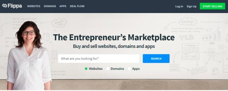Comprar y vender sitios web, dominios y aplicaciones