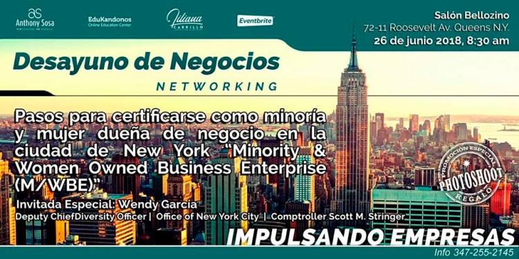 Evento Impulsado Empresas (Desayuno de Negocios/Networking)