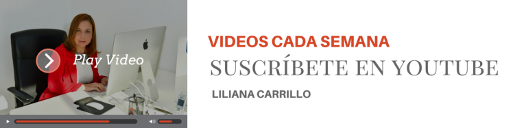 Videos cada semana, Suscríbete en el canal de Liliana Carrillo